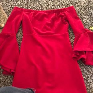 Bodycon Red Party dress (off the shoulder)